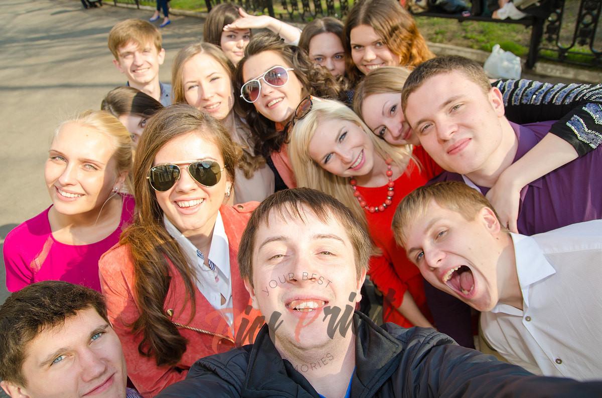Групповое фото выпускного класса