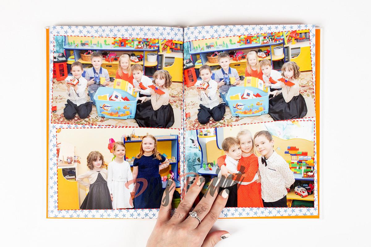 Разворот выпускного альбома в детском саду