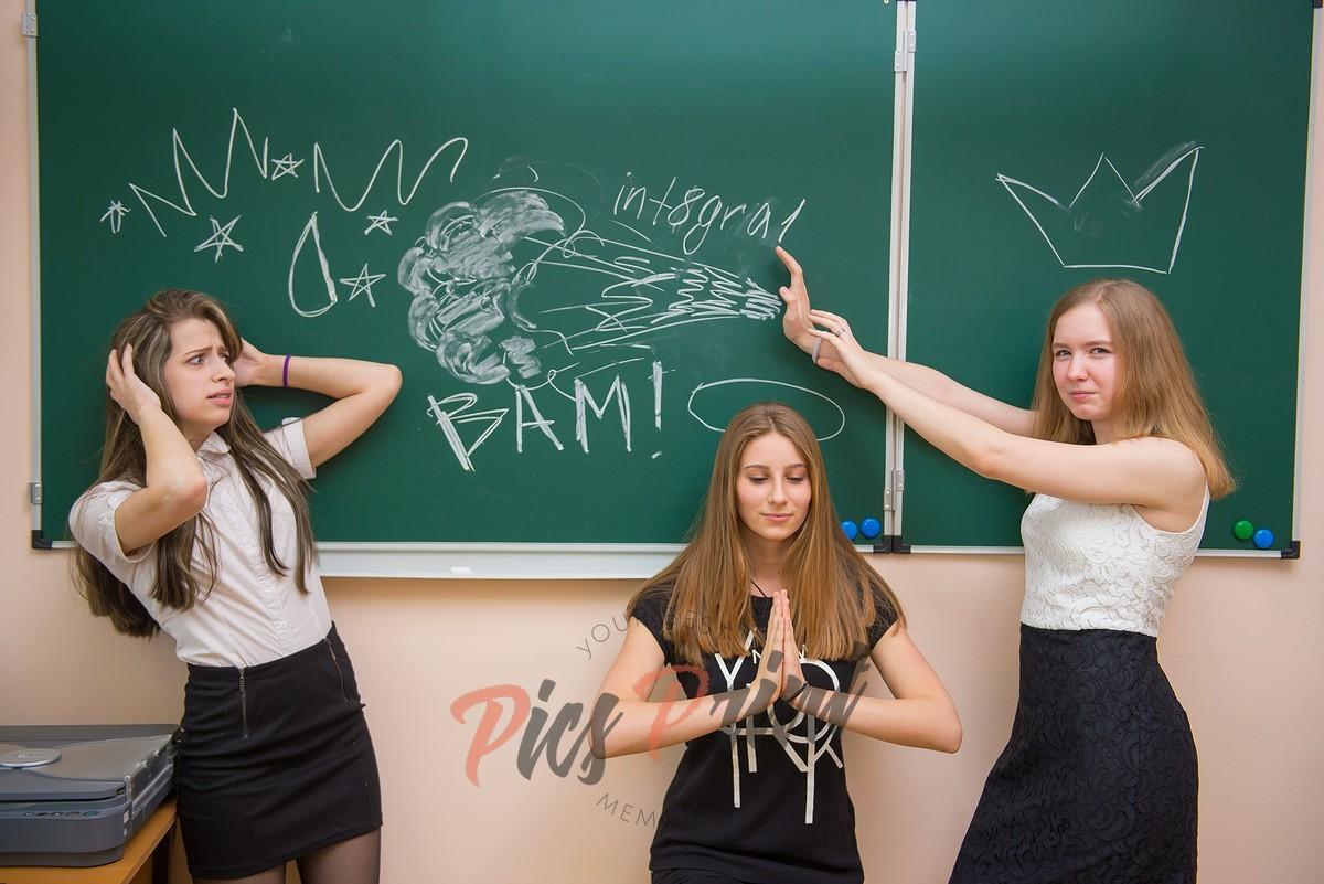 Фотосессия в школе для выпускного альбома